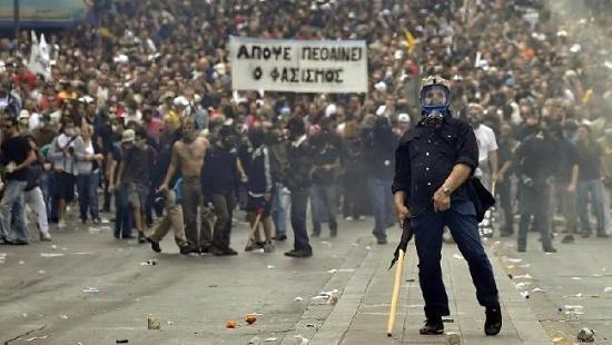 Забастовка в Греции
