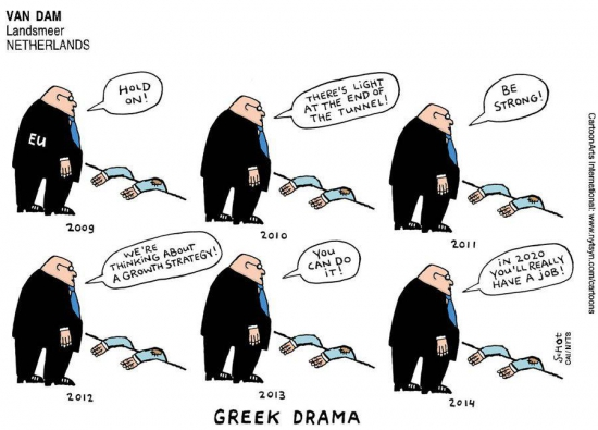 Кризис в Европе - карикатурки