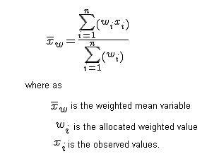 средневзвешенное формула