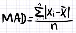 среднее абсолютное отклонение формула