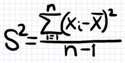 выборочная дисперсия формула