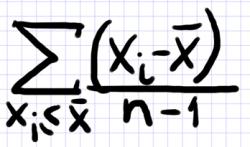 полудисперсия формула