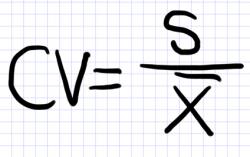 коэффициент вариации формула