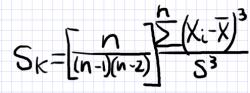 ассиметрия выборки формула
