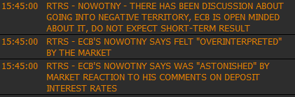 Евро чуть вмочили на каментах Новотны