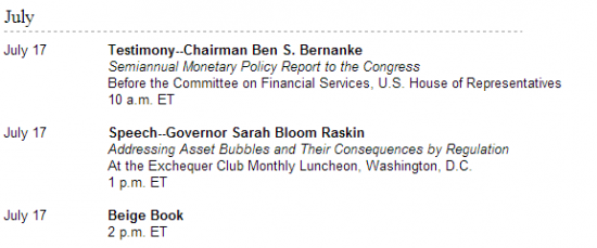 Во сколько выступает Бернанке сегодня