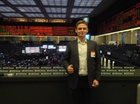 Мартын и Рик Сантелли (CNBC) на CBOT Trading Floor