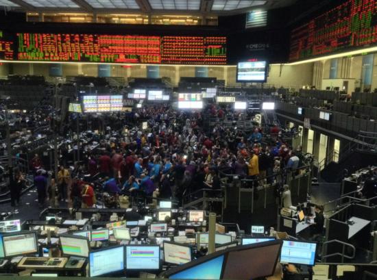 Чикагская биржа, яма