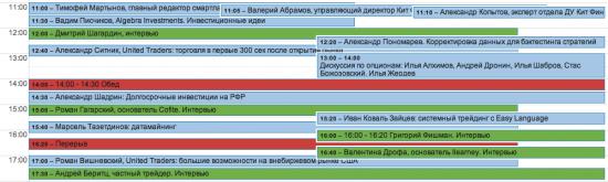 Расписание питерской конференции в эту субботу!