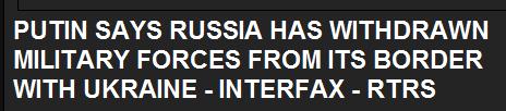 Путин призвал сепаратистов отложить референдум, Россия отводит войска от границы с Украиной