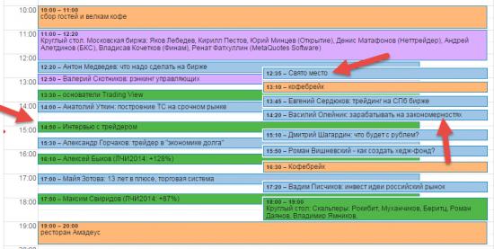 Изменения в расписании конференции