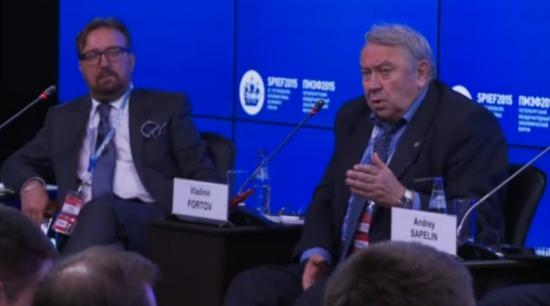 Владимир Фортов, РАН на ПМЭФ 2015