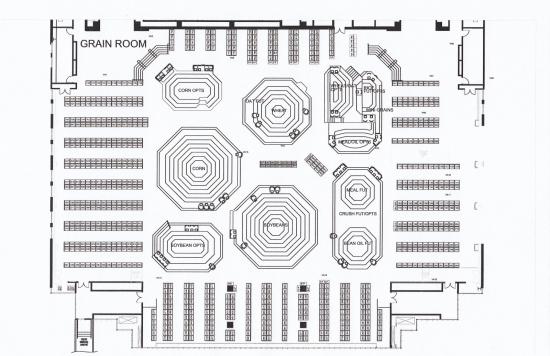 Карта торгового зала Чикагской Биржи (яма CME)