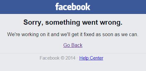 Технический сбой Facebook