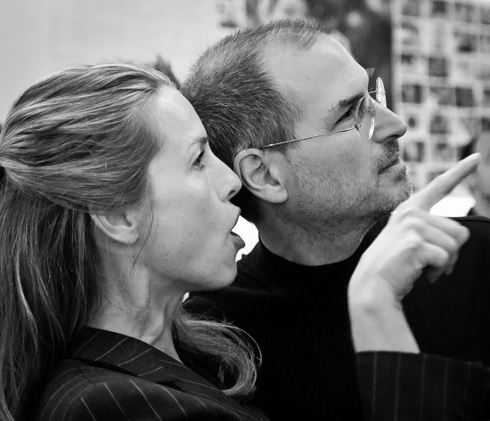 Стив Джобс и его жена Лорин