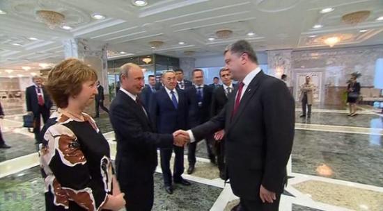 встреча Путин-Порошенко началась
