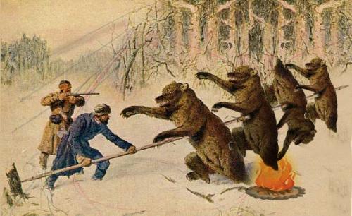 Что будет, что будет... шашлык из медведей  будет.