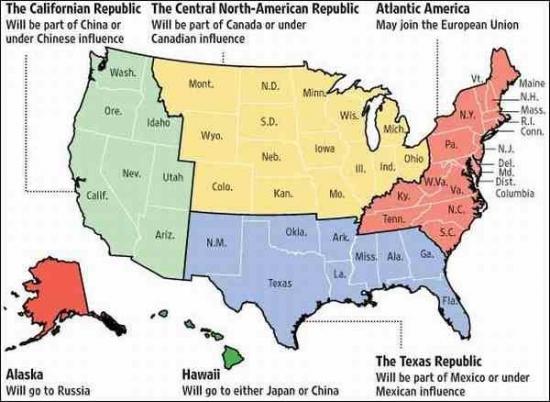 В Америку пришла «арабская весна» - новая карта Америки