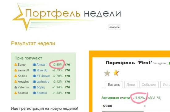"""""""Народный"""" ПАММ-портфель."""