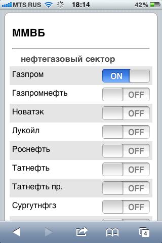 Котировки OnLine для смартфона