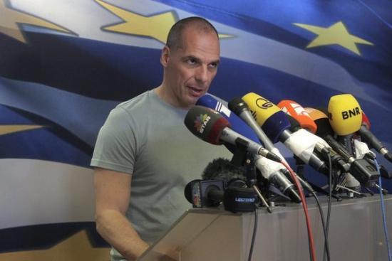 Греция, министр финансов Янис Вароуфакис обьявил о своей отставке