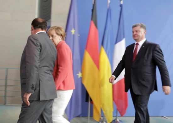 В понедельник в Берлине встретились Германия, Франция и Украина.