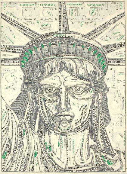 Марк Вагнер: Коллажи из денег
