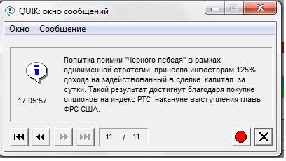 """Финам уже пиарит стратегию """"Чёрный лебедь"""" через Квик-:)"""
