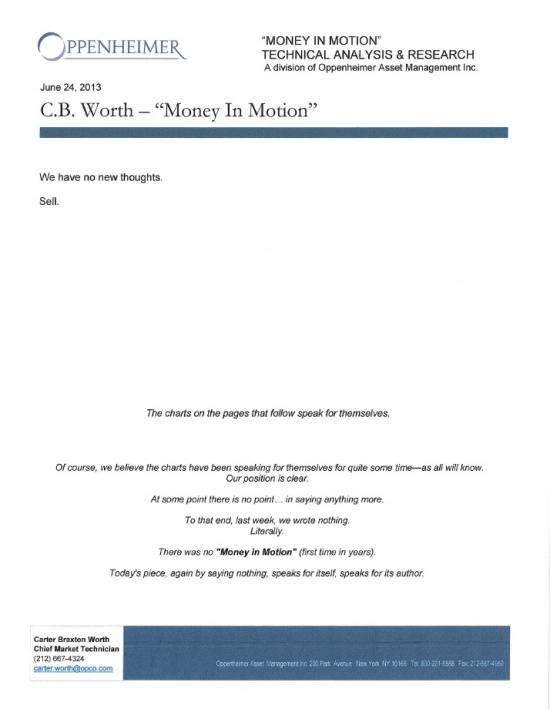 Свежий research по рынку от Oppenheimer