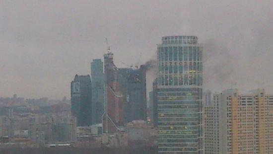 Пожар Москва-СИТИ
