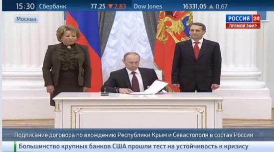 Путин подписал договор о принятии Крыма и Севастополя в состав РФ