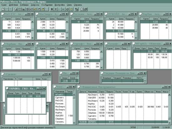 Фондовая секция ММВБ 3 сентября 1998 года. После дефолта.