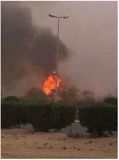 На ZH пишут, что взрывом якобы уничтожен нефтепровод в Саудовской Аравии