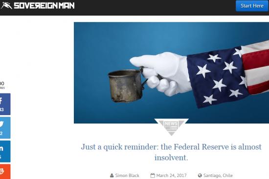 Федеральный Резерв — почти банкрот. Пояснение подробней некуда)