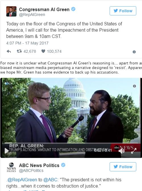 Видео выступления конгрессмена по импичменту Трампа.