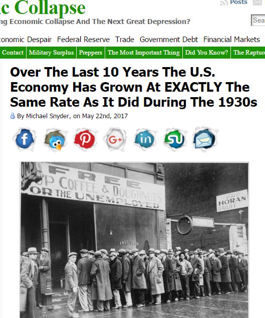 Правда экономического восстановления США. Как в 1930-е годы.