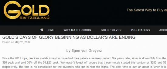 Доллар и золото. Много текста. goldswitzerland.com