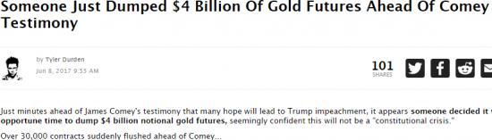 Кто то сбросил 30тыщ контрактов по золоту перед выступлением Коми.