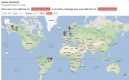 Супер игра головоломка GeoGuessr на гуглевском Street view, выкладываем результаты!