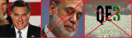 Митт Ромни против QE3 и не назначит Бернанке на пост главы ФРС