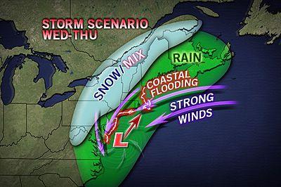Внимание: в ночь со среды на четверг Нью-Йорк может накрыть новый шторм.