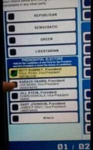 Машины для голосования в США не дают избирателям голосовать за Обаму.