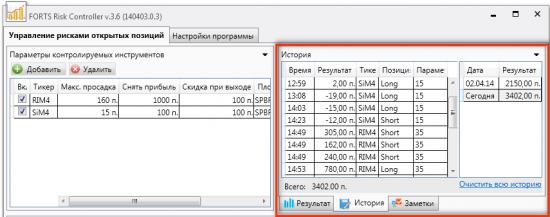 Вышла версия 3.6 FORTS Risk Controller