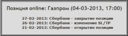 FT-Trade. Лонг по Газпрому от 4 марта. Дальнейшие действия.