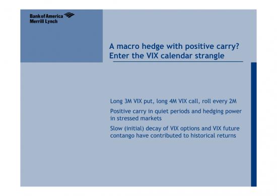 VIX Calendar Strangle Index