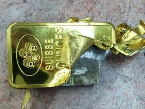 Обнаружена очередная золотая плитка заполненая вольфрамом, теперь на Манхэттене