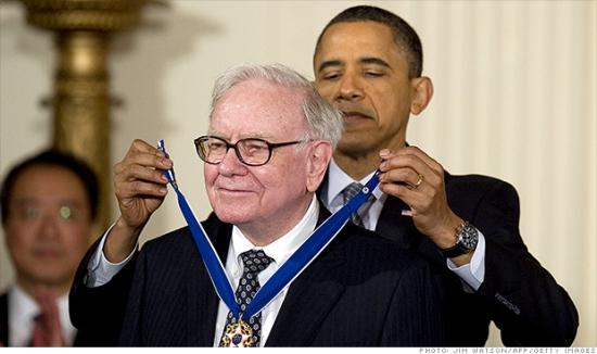Только для тех , кто знает английский язык . Obama , Buffett , rich.