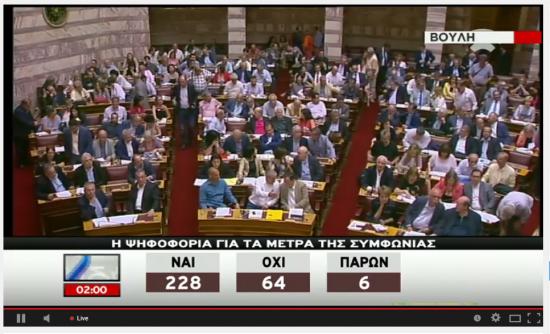 Парламент Греции одобрил законопроект необходимый для получения помощи!