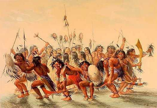 Scalp dance by George Catlin