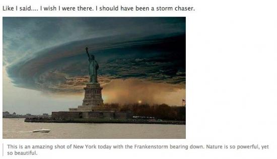 6 популярных фейковых фотографий урагана Сенди